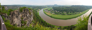 Elbe Panorama from Bastei
