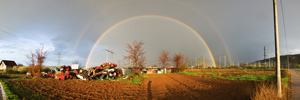 Rainbow from the Outskirts of Brzi Brod Village