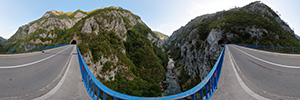 The bridge over river Piva in its canyon (VR)