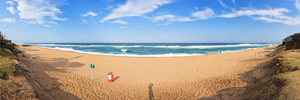 Umhlanga Beach in the afternoon